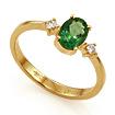Кольцо с изумрудом золотое SL-155-250 весом 2.39 г  стоимостью 35250 р.