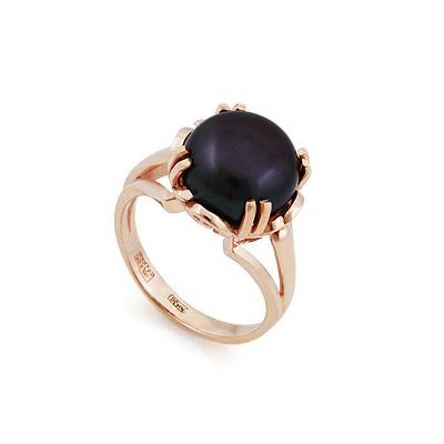 Кольцо с крупным черным жемчугом 7 г SL-2153-650