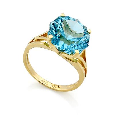 Кольцо с топазом в желтом золоте 4.54 г SL-2160-454