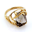 Золотое кольцо с большим прямоугольным раухтопазом 6.05 г SL-2174-605