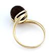 Кольцо с черным камнем (оникс в форме шара фантазийной огранки) 3.93 г SL-2836-393