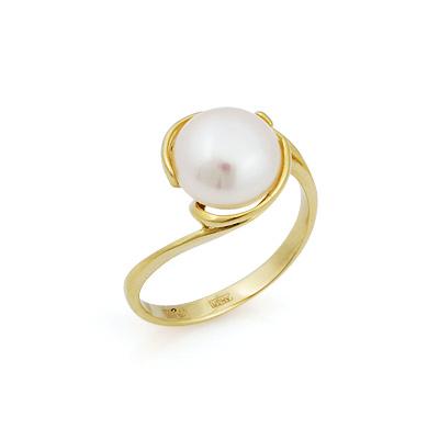 Кольцо с крупным белым жемчугом 3.6 г SL-2837-360