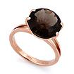 Золотое кольцо с раухтопазом - круг SL-2840-423 весом 4.23 г  стоимостью 19036 р.