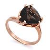 Золотое кольцо с раухтопазом огранки триллион SL-2843-354 весом 3.54 г  стоимостью 15930 р.