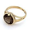 Золотое кольцо с дымчатым кварцем - раухтопаз 3.77 г SL-2844-375