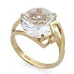 Золотое кольцо с горным хрусталем необычной огранки SL-2853-438 весом 4.49 г  стоимостью 15262 р.