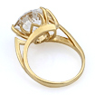 Золотое кольцо с горным хрусталем необычной огранки 4.49 г SL-2853-438