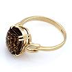 Кольцо с раухтопазом - дымчатый кварц 3.72 г SL-2854-372
