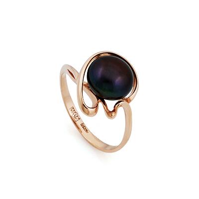 Кольцо с крупным черным жемчугом 3.2 г SL-2856-314