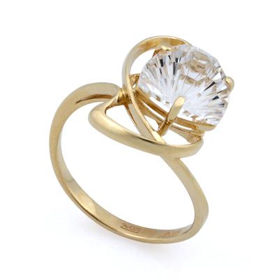 Горный хрусталь в золотом кольце 3.55 г SL-2859-353