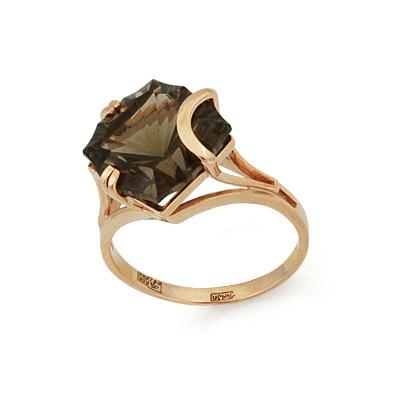 Кольцо с дымчатым кварцем 4.15 г SL-2861-415