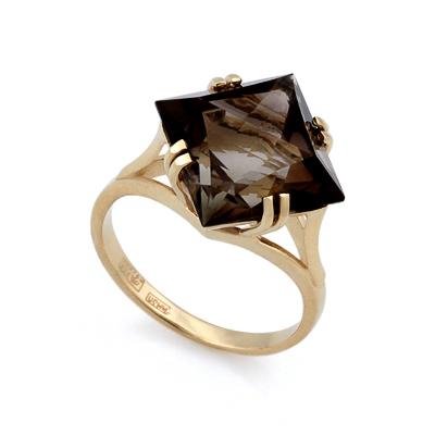 Кольцо с раухтопазом в желтом золоте 4.95 г SL-2862-495