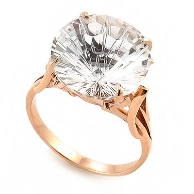 Кольцо с горным хрусталем необычной огранки 4.99 г SL-2863-499