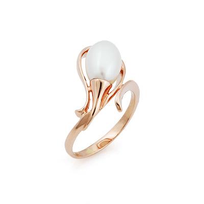 Кольцо с жемчугом в форме капли 3.5 г SL-2866-313