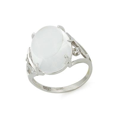 Кольцо с горным хрусталем кабошон 6.21 г SL-2869-621