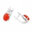 Серебряные серьги с красным кораллом SL-3296-395 весом 3.95 г  стоимостью 2200 р.