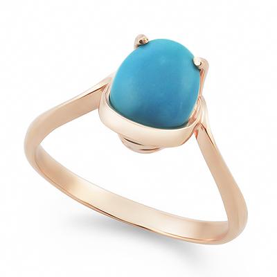 Кольцо с бирюзой золото 2.65 г SLK-0265-265