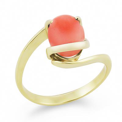 Золотое кольцо с кораллом 3.1 г SLK-0265-310