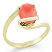 Золотое кольцо с кораллом SLK-0265-310 весом 3.1 г  стоимостью 18600 р.