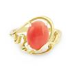 Оригинальное кольцо с натуральным кораллом 3.88 г SLK-0280-380