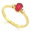 Кольцо с рубином в желтом золоте SLR-0213-210 весом 2.1 г  стоимостью 18500 р.