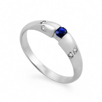 Кольцо с сапфиром белое золото 2.2 г SLZ-0256-220
