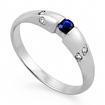 Кольцо с сапфиром белое золото SLZ-0256-220 весом 2.2 г  стоимостью 25800 р.