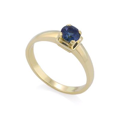 Золотое кольцо с сапфиром 2.82 г SLZ-17801-282