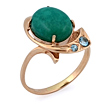 Золотое кольцо с бирюзой огранки кабошон SV-0363-455 весом 4.55 г  стоимостью 22068 р.