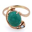 Золотое кольцо с бирюзой огранки кабошон 4.55 г SV-0363-455