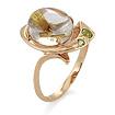 Кольцо из золота кварц-волосатик SV-0363-511 весом 5.11 г  стоимостью 22484 р.