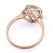 Кольцо в классическом золоте с горным хрусталем 2.5 г SV-0403-302