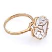 Горный хрусталь в кольце из золота 5.1 г SV-0468-510