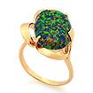 Золотое кольцо с зеленым опалом SV-0475-495 весом 4.95 г  стоимостью 22275 р.