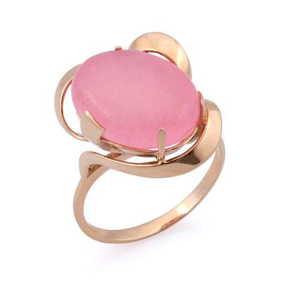 Кольцо с розовым кварцем 5.8 г SV-0475-580