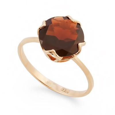 Золотое кольцо с гранатом 2.09 г SV-0490-209
