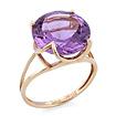 Золотое кольцо с аметистом круглой огранки SV-0529-321 весом 3.7 г  стоимостью 20720 р.
