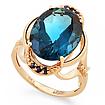 Золотое кольцо с сапфирами и лондон топазом SV-0552-575 весом 5.75 г  стоимостью 35600 р.