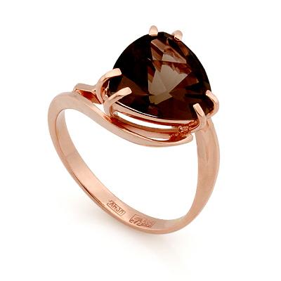 Кольцо с раухтопазом из красного золота 4.04 г Sl-2851-405