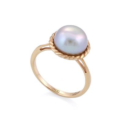 Кольцо с серым жемчугом 3.76 г SL-0246-376