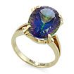 Золтое кольцо с мистик топазом SL-2171-623 весом 6.23 г  стоимостью 25855 р.