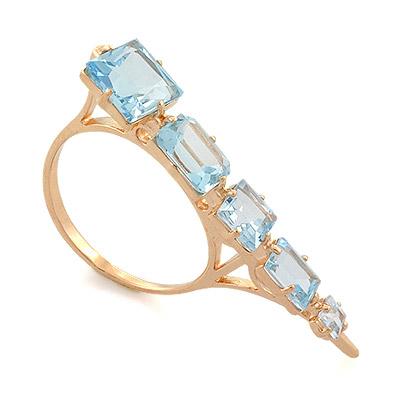 Кольцо с топазом (голубым) 6.1 г SL-0168-650